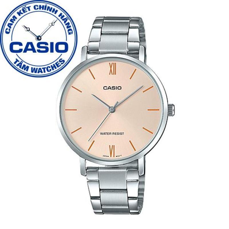 Đồng hồ nữ dây thép không gỉ Casio Standard Anh Khuê LTP-VT01D-4BUDF