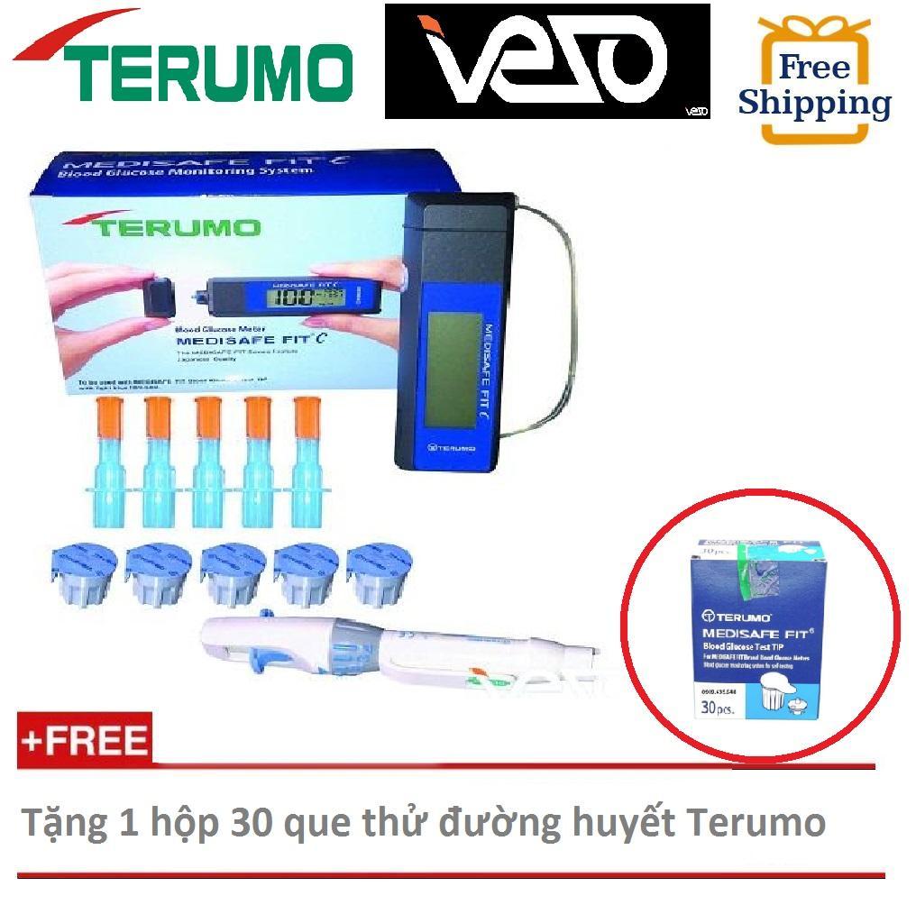 Nơi bán [Tặng 1 hộp 30 que thử đường huyết] Máy đo đường huyết TERUMO MEDISAFE FITC