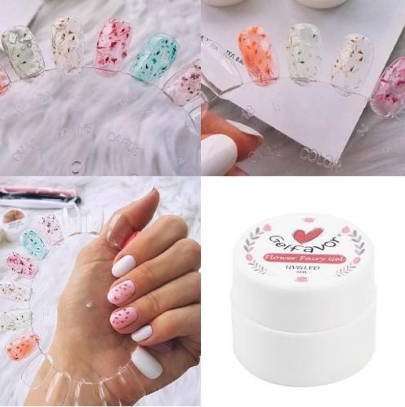 Gel trộn hoa khô sơn móng trang trí móng Gelfavor 5ml nhập khẩu