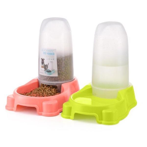 Bát Ăn Uống Tự Động Hình Trụ Cho Chó Mèo BAU029