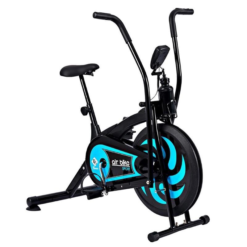 GYM - Xe đạp tập thể dục Air bike 8701 Màu xanh lam mẫu 2019