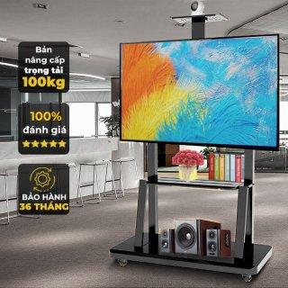 Giá treo tivi di động Kệ Treo Tivi Có Bánh Xe Di Chuyển Đa Năng phù hợp mọi không gian và tiết kiệm diện tích thumbnail