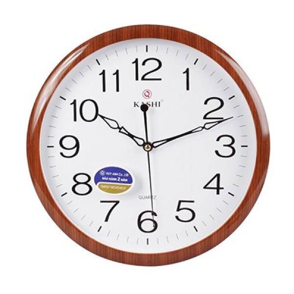 Đồng hồ treo tường kashi K81 kim trôi Ø32cm bán chạy