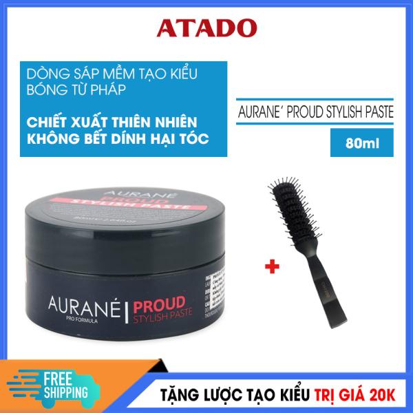 [Có Video Review] Sáp vuốt tóc nam Cao Cấp Proud Stylish Paste 80ml - ATADO - Wax vuốt tóc mềm tạo kiểu bóng tóc từ Pháp, chất sáp mềm dễ tan dễ làm sạch với công thức giữ nếp kiểu mới - Tặng lược tạo kiểu trị giá 20k giá rẻ