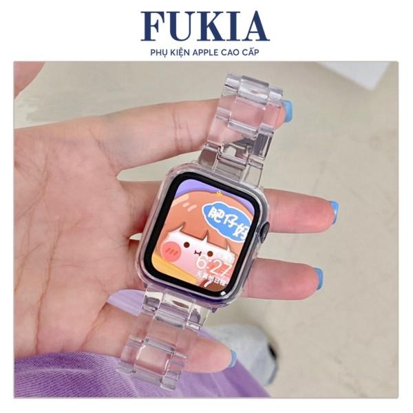 Dây Đeo Nhựa Trong Suốt Thời Trang Cho Đồng Hồ Thông Minh Apple Watch 1 / 2 / 3 / 4 / 5