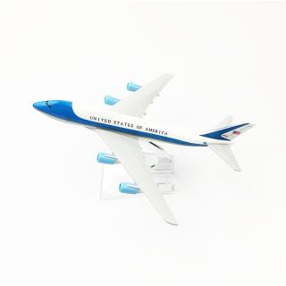 Máy bay mô hình Air Force One B747 (Obama, 16cm) thumbnail