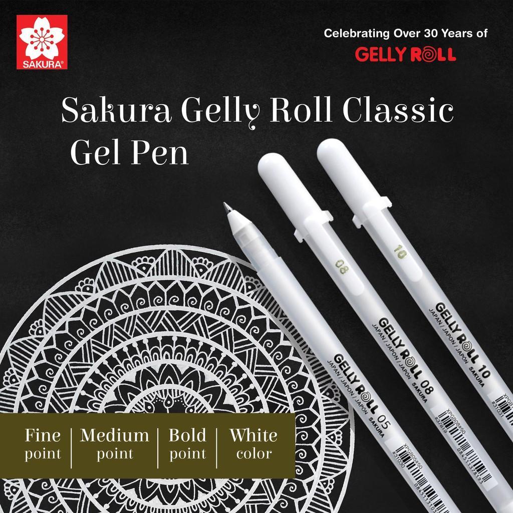 Mua Bút Gel Sakura Trắng  Gelly roll cỡ 05, 08,10