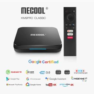 Mecool KM9 Pro Classic Android TV 10 Chứng Chỉ Google (Google Certificate) Amlogic S905X2 Ram 2GB Bộ Nhớ Trong 16GB Remote Voice Giọng Nói Kèm Theo Box thumbnail
