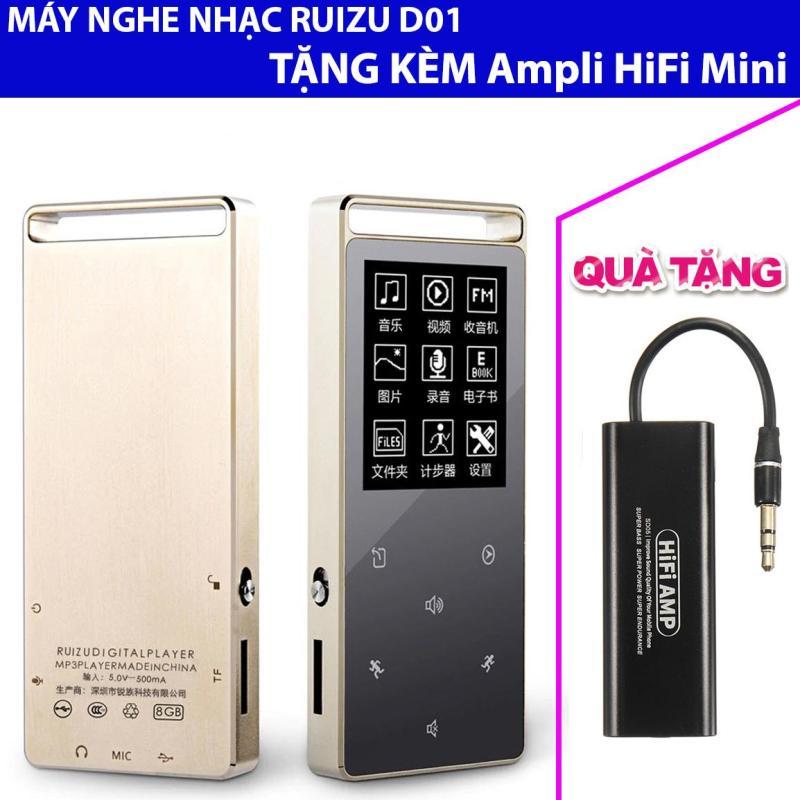 Máy Nghe Nhạc Thể Thao Lossless HiFi Ruizu D01 + Ampli Mini HiFi hỗ trợ giải mã âm thanh chất lượng cao SD05 Plus
