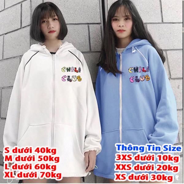 [FREESHIP TOÀN QUỐC] Áo khoác nam nữ form rộng hàn quốc, áo khoác hoodie nam nữ có dây kéo Chili thời trang nữ 4young