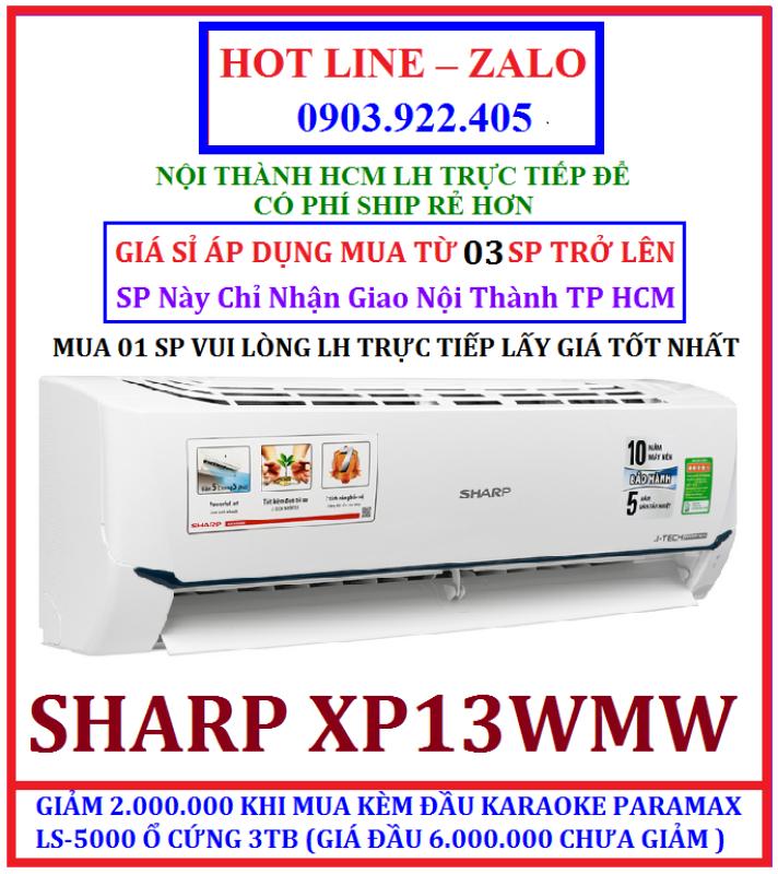 Máy lạnh Sharp Inverter 1.5 HP AH-XP13WMW CÓ KHỬ MÙI , HÀNG CHÍNH HÃNG