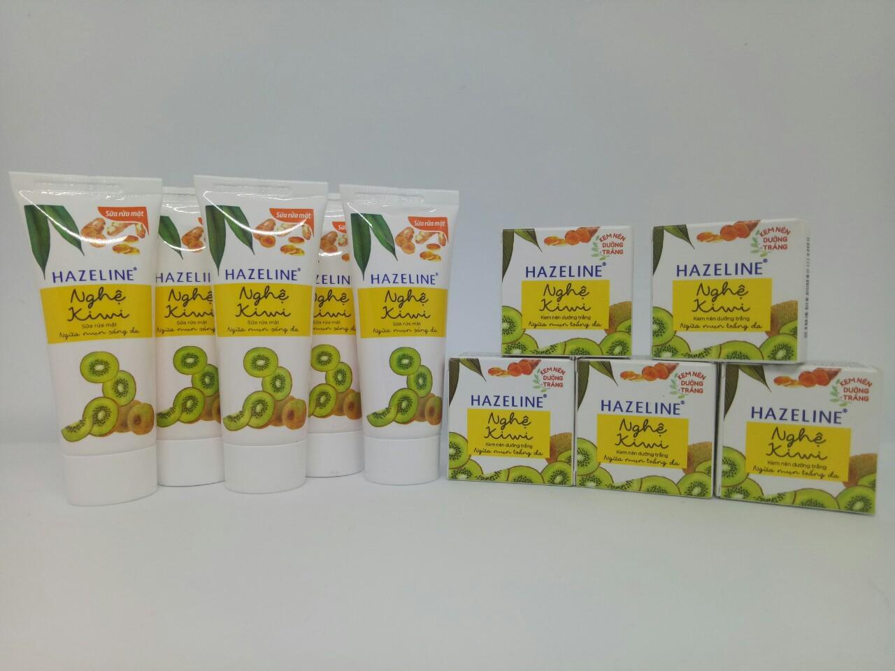 Trọn bộ 6 món trị mụn dành cho mọi lứa tuổi : 3hộp Kem nén dưỡng trắng da Nghệ-Kiwi + 3tuýt Sữa rửa mặt dưỡng trắng da Nghệ-Kiwi & TẶNG 1 túi đựng mỹ phẩm xinh xắn