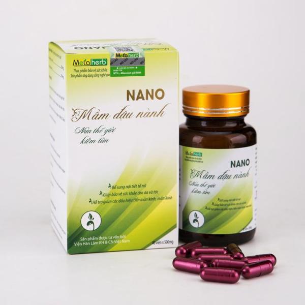 Nano Mầm Đậu Nành Nguyên Xơ Metaherb bổ sung Nội tiết tố nữ làm Căng da, tăng kích cỡ Vòng 1