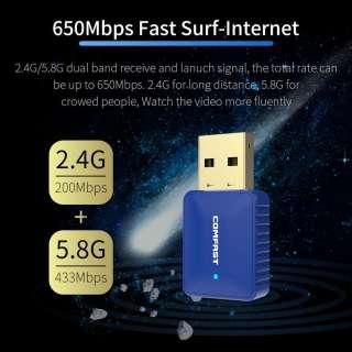 Comfast CF-726B BT4.2 650M Wifi + Bluetooth Không Dây Mạng Adapter