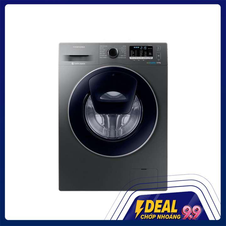 Máy giặt cửa trước Samsung WW80J54E0BX/SV (Xám) - Hãng phân phối chính thức