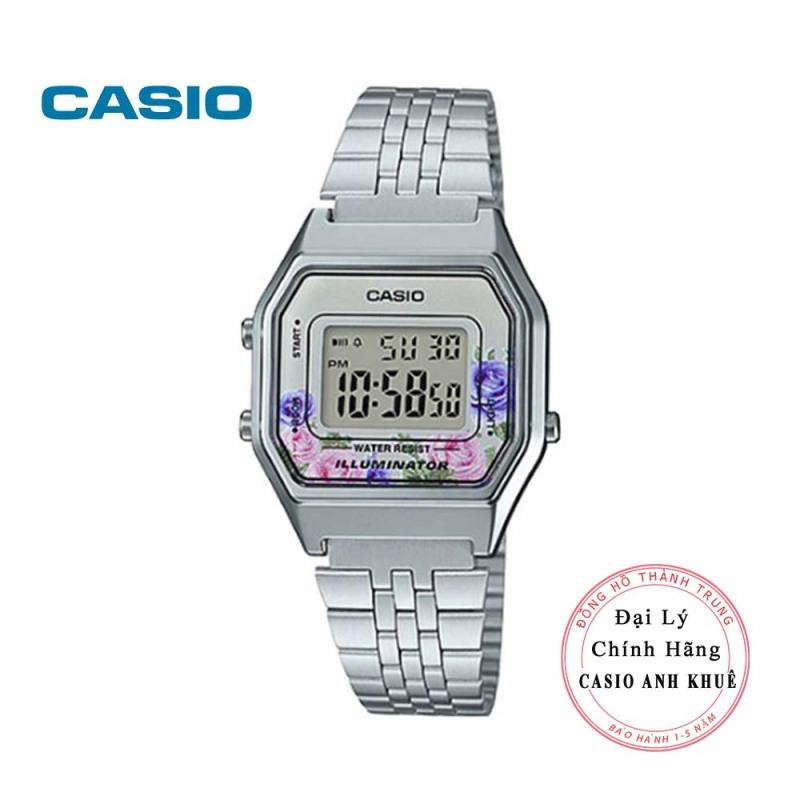Đồng hồ điện tử nữ Casio Vintage LA680WA-4CDF dây kim loại