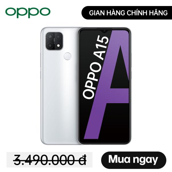 Điện thoại OPPO A15 3GB/32GB - Hàng Chính Hãng, mới 100%, Nguyên Seal, Bảo hành 12 tháng