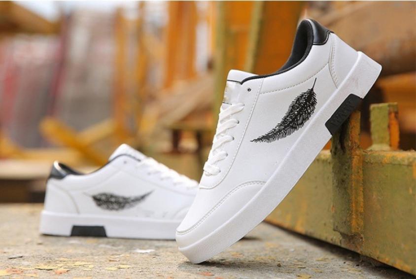 Giày sneaker nam thời trang Udany, giày thể thao nam nổi bật với họa tiết lông vũ tuyệt đẹp, giày hot trend cho mùa đông năm nay - USN017 giá rẻ