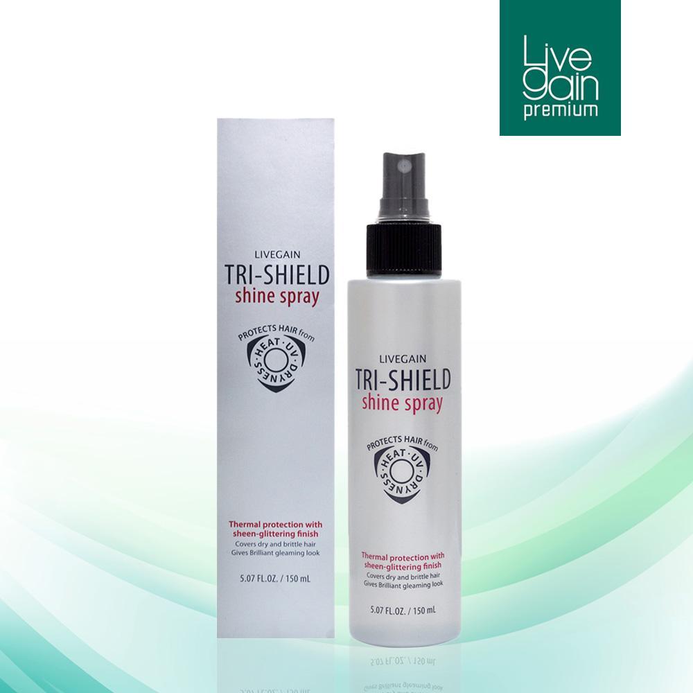 Xịt dưỡng bảo vệ tóc 3 tác dụng Livegain TRI-SHIELD Shine Spray 150ml Hàn Quốc giá rẻ