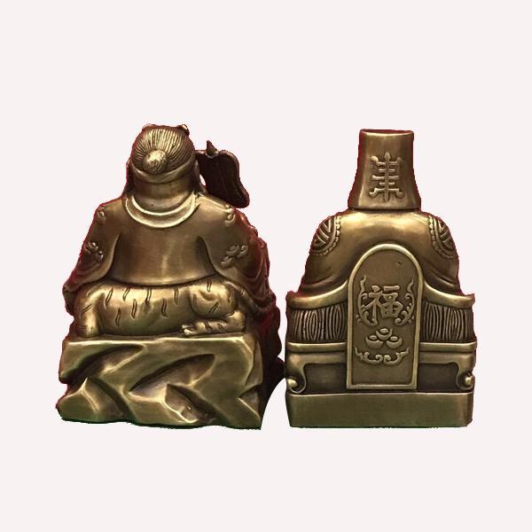 Thần Tài Thổ Địa cao18 ngang 13cm chất liệu đồng 4000g - 2
