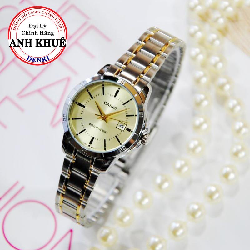 Đồng hồ nữ dây kim loại Casio Standard chính hãng Anh Khuê LTP-V004SG-9AUDF