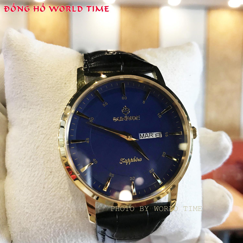 Đồng hồ Nam Chính Hãng Sunrise DM1216SWA G [Full Box + Thẻ BH 3 Năm] Kính Sapphire Chống Nước - Chống Xước - Dây Da Cao Cấp bán chạy