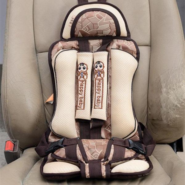 Ghế ngồi ô tô an toàn cho bé - Đai an toàn cho bé đi ô tô loại cao cấp Happy baby (Màu be )