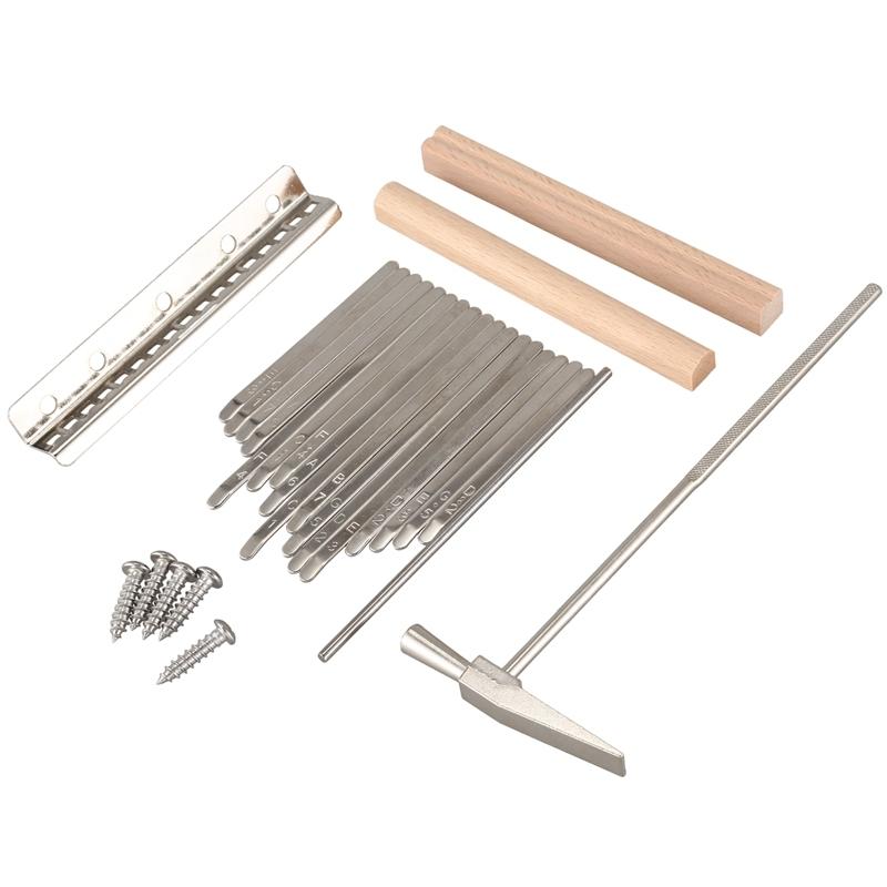 17 Keys Kalimba Thumb Finger Piano DIY Keys+Bridge+Tuning Hammer Kit Musical Instrument Part Accessories Malaysia