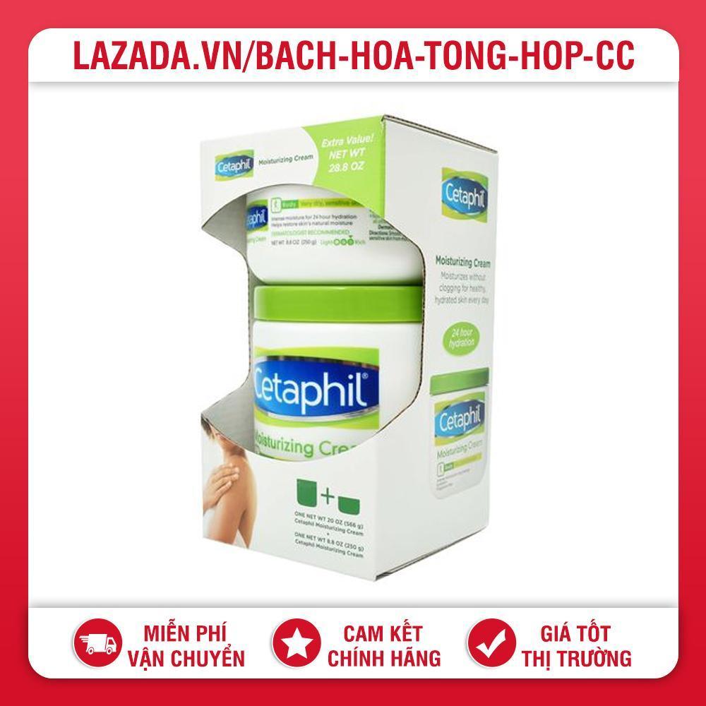 Set 2 kem dưỡng ẩm Cetaphil Moisturizing Cream 566g và 250g tốt nhất