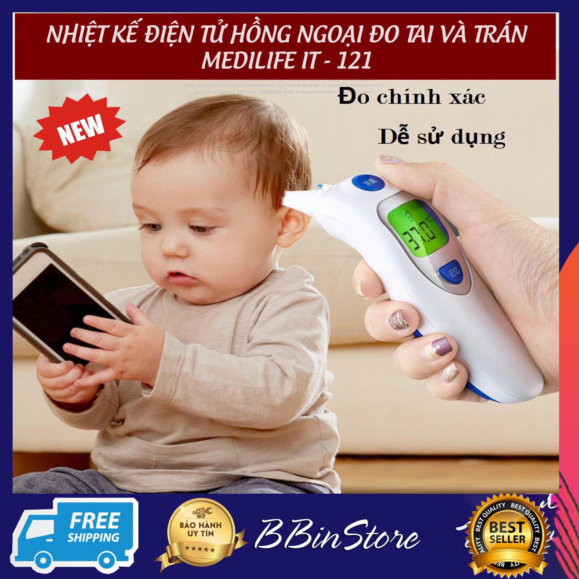 Nhiệt kế điện tử cho gia đình, Thiết bị theo dõi sức khỏe, Nhiệt kế điện tử hồng ngoại đo trán, đo tai cho bé yêu. Chất lượng cao, đo nhiệt độ nhanh chóng, an toàn. Bảo hành tại BBINSTORE