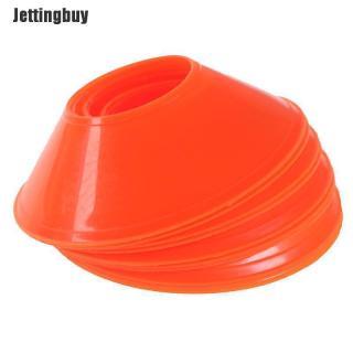 Jettingbuy 10 Cái Bóng Đá Đào Tạo Dấu Hiệu Món Ăn Áp Lực Chống Cones Marker Đĩa Đánh Dấu Huỳnh Quang Màu Xanh Lá Cây thumbnail