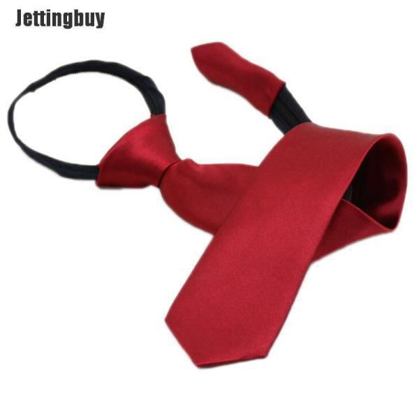 Cà Vạt Lười Cho Nam Sinh Viên Jettingbuy Cà Vạt Cổ Kéo Khóa Một Màu Phong Cách Thường Ngày
