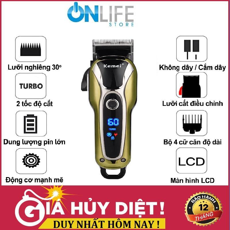 Tông đơ cắt tóc trẻ em và hớt tóc cho người lớn và gia đình,Tông đơ Không Dây Chuyên Nghiệp Kemei KM-1995 giá rẻ