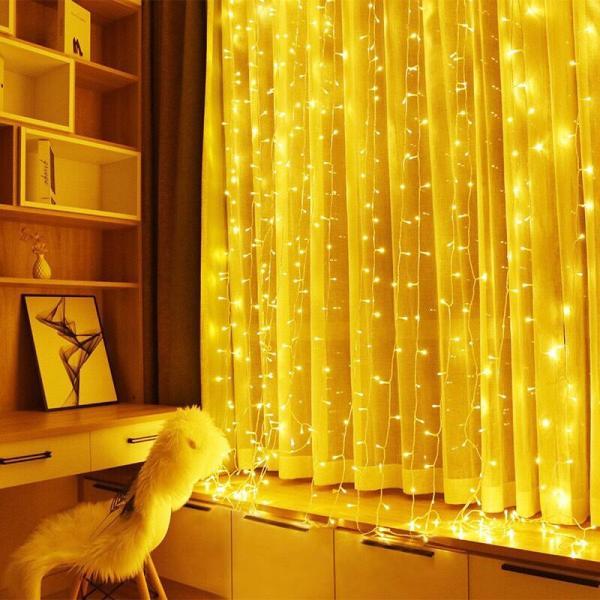 8 mét 50 bóng đèn led ánh vàng- xài điện- dây đèn đom đóm trang trí Noel