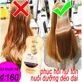 nhập khẩu Amino acid của Hàn Quốcphục hồi tóc khô và làm tóc dẻo dải, sáng bóngdẻo dai và dưỡng tóchương thơm thanh lịchchăm sóc tóc bằng kem ủ tóc500g kem ủ tóc glycerin, tóc deo dai nắm không được thumbnail