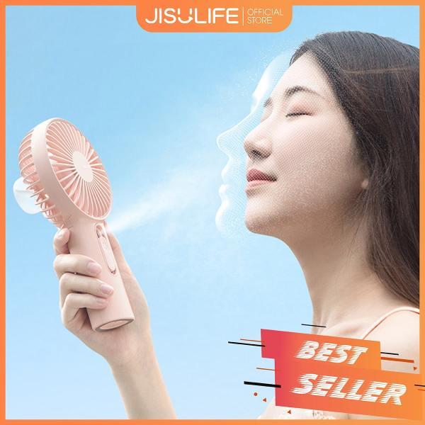 Quạt cầm tay phun sương Jisulife F9 - Màu hồng - Tạo ẩm chăm sóc da mặt 2 in 1 – Sạc nhanh 3 giờ - hoạt động 20 giờ liên tục - bền bỉ không gây tiếng ồn - Bảo hành 12 tháng - Hàng chính hãng