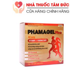 Viên uống bổ sung vitamin tổng hợp và khoáng chất Phamagel Plus bồi bổ cơ thể, tăng sức khỏe, tăng đề kháng - Hộp 100 viên thumbnail