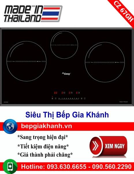 Bếp từ 3 vùng nấu Canzy CZ 67GH nhập khẩu Thái Lan, bếp từ, bếp điện từ, bếp từ đôi, bếp điện từ đôi, bếp từ giá rẻ, bếp điện từ giá rẻ, bếp từ đơn, bep tu don, bep tu