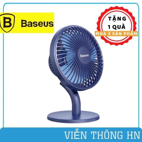Quạt tích điện mini để bàn baseus ocean fan 3 pin 2000mAh - quạt mini với 3 mức độ gió thích hợp để trên bàn làm việc và phòng điều hòa - vienthonghn