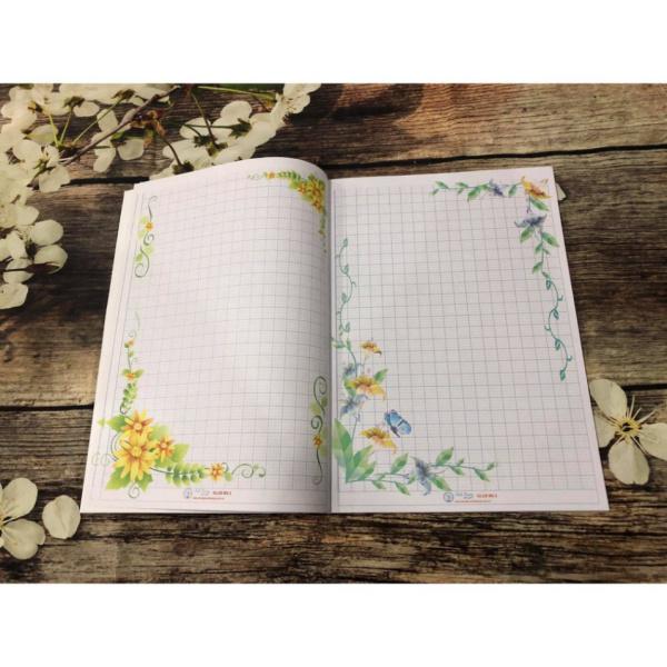 Sổ Nhật Kí Luyện Chữ Đẹp 180 Trang - Giấy Ô Ly Hoa Trang Trí - 108 Trang