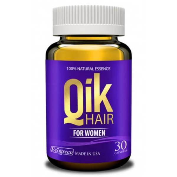 (Hộp 30 viên) Giúp giảm rụng tóc ở nữ, giúp tóc mọc nhanh, chắc khỏe tóc dày và bóng mượt QIK HAIR FOR WOMEN giá rẻ