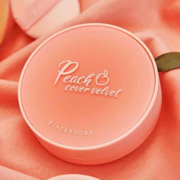[NEW] Phấn Nước  Trái Đào  Black Rouge Peach Cover Velvet Cushion