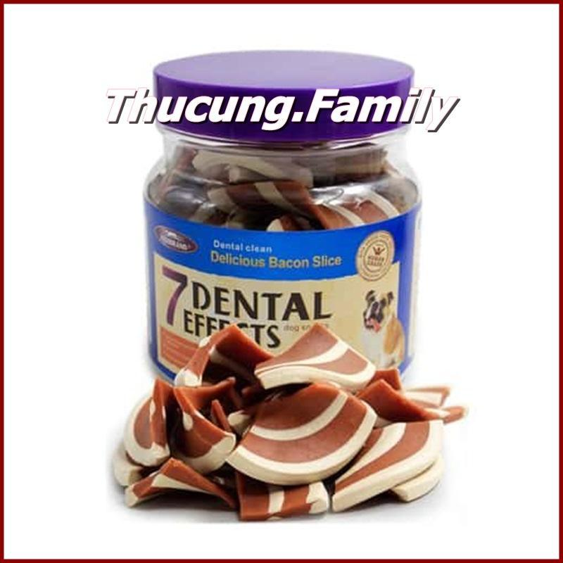Xương nhai thưởng cho Chó 7 Dental- Bacon stick. 250gr/ hộp