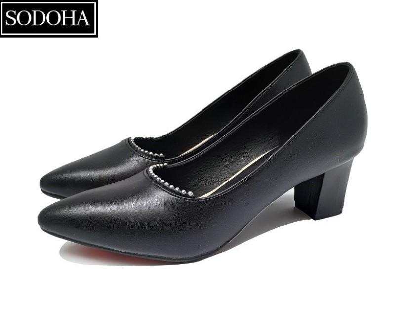 Giày Cao Gót Nữ Đính Cườm SODOHA SDH-1568B giá rẻ