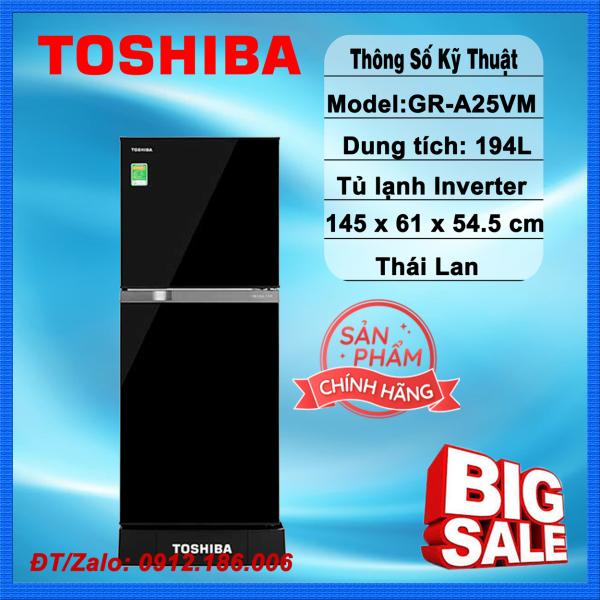 Tủ lạnh Toshiba Inverter 194 lít GR-A25VM(UKG1) Mới 2020