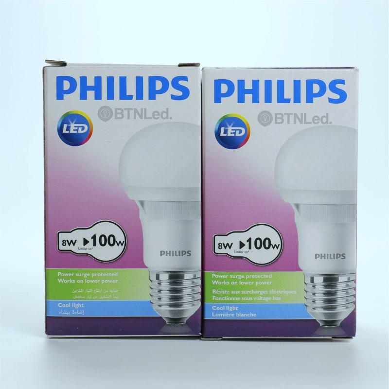 Bóng đèn PHILIPS Ecobright LEDBulb 8W E27 A60 - [HÀNG CHÍNH HÃNG] - ÁNH SÁNG TRẮNG - Tiết kiệm điện, chất lượng sáng cao