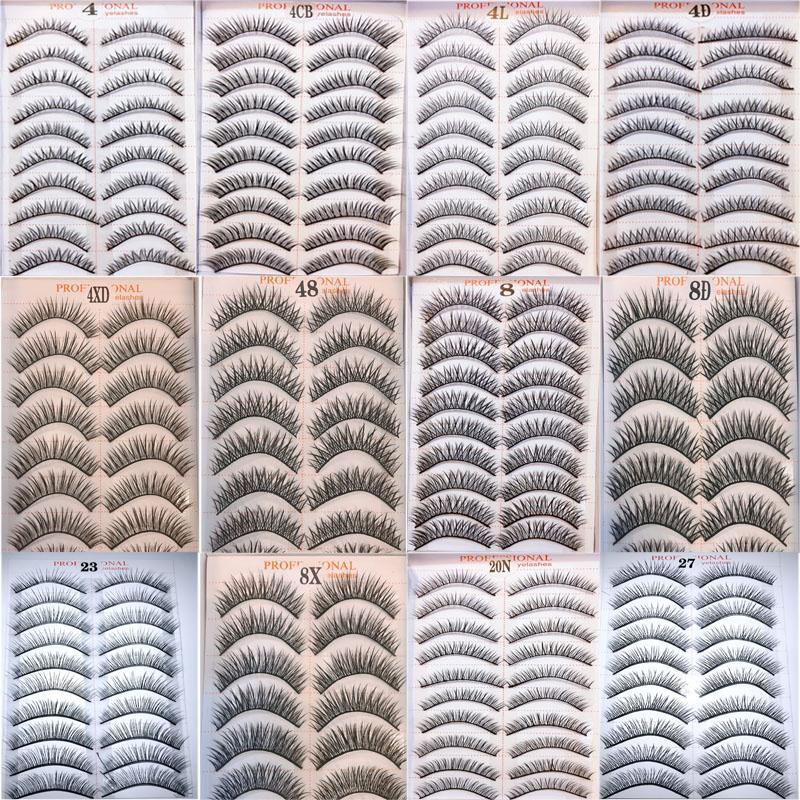 Lông Mi Giả Loại Tốt Sợi Tơ Tự Nhiên Đều ,Mượt Mà, Phong Cách Hàn Quốc Model 21 Eyelashes 10 pairs( 100% Material From Korea)