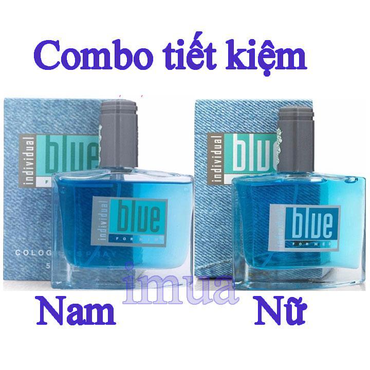 Comb 2 chai nước Hoa Blue Avon Nam - Nữ Individual 50ml (For Him and For Her) chính hãng