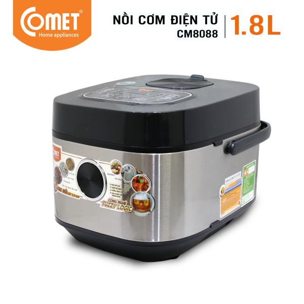 Nồi cơm điện tử COMET - CM8088 1.8L  - Đa năng nấu hấp hầm - Bảo hành 12 tháng- Hàng chính hãng