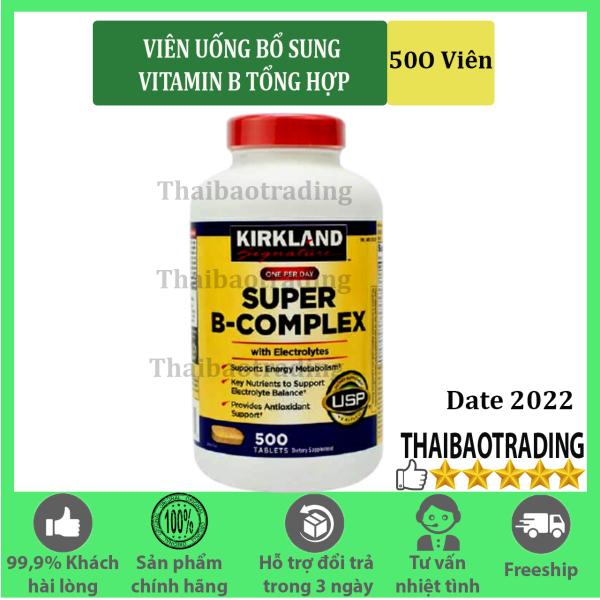 VIÊN UỐNG BỔ SUNG VITAMIN B TỔNG HỢP SUPER B - COMPLEX KIRKLAND, 500 VIÊN